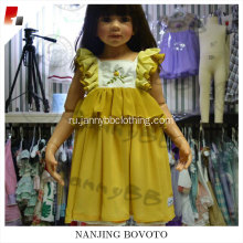 Hand embroidery wholesale girls smocked dress